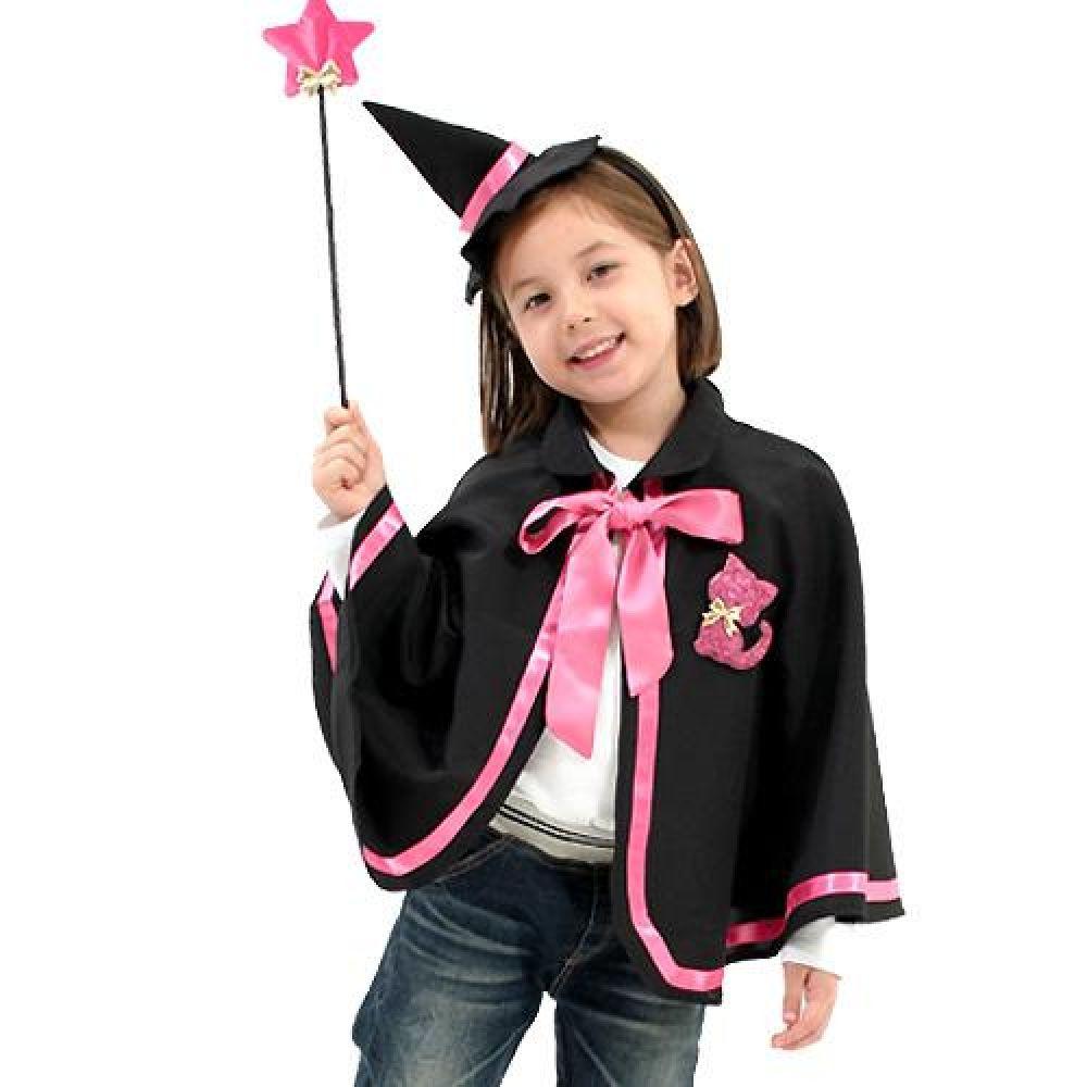 미니윗치망토세트-아동(핑크)