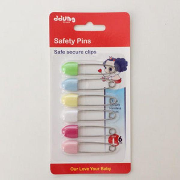 안전옷핀6P 생활용품 잡화 주방용품 생필품 주방잡화