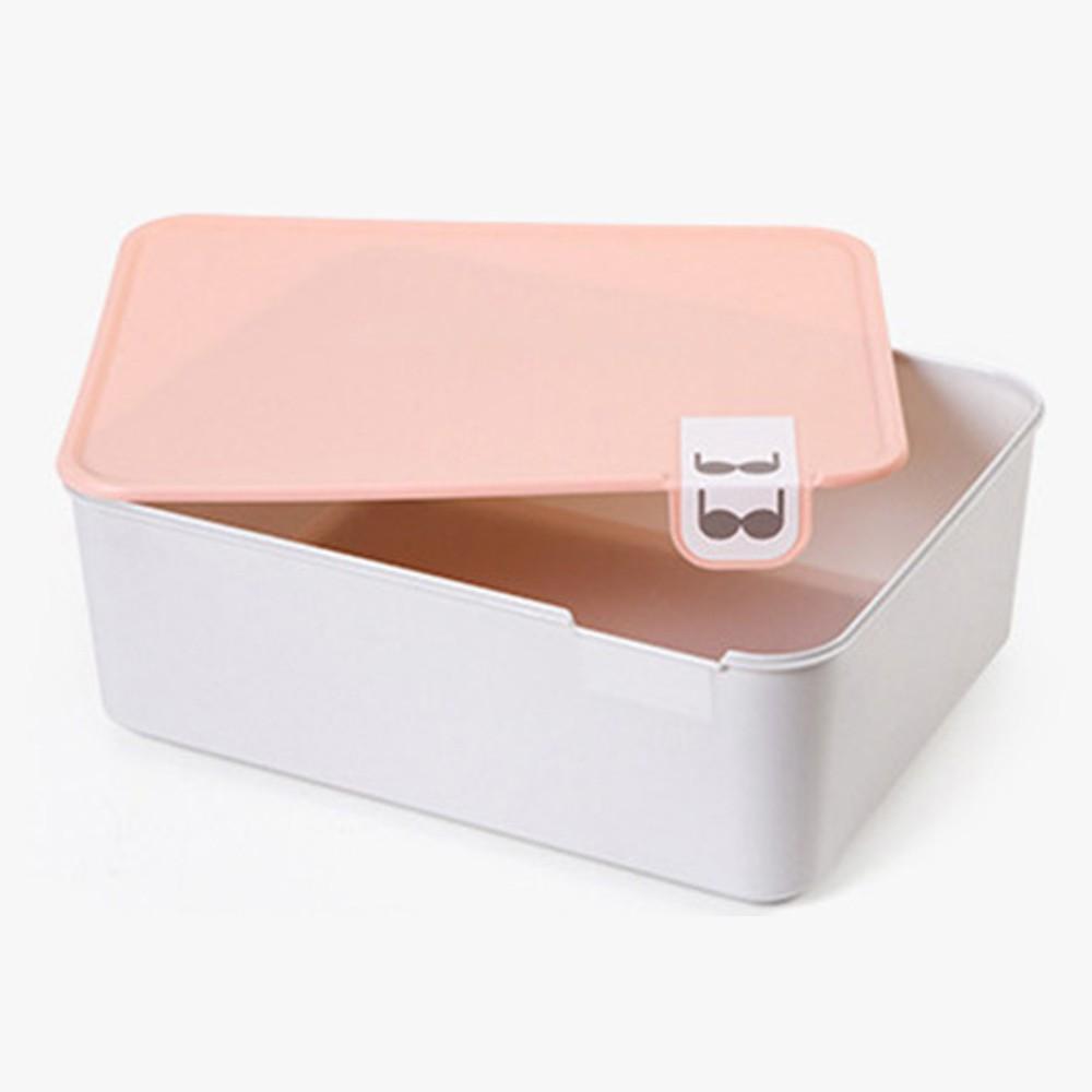 박스 1칸 속옷 정리함 수납함 다용도 수납 상자 리빙 수납함 정리함 수납박스 수납정리함 리빙박스