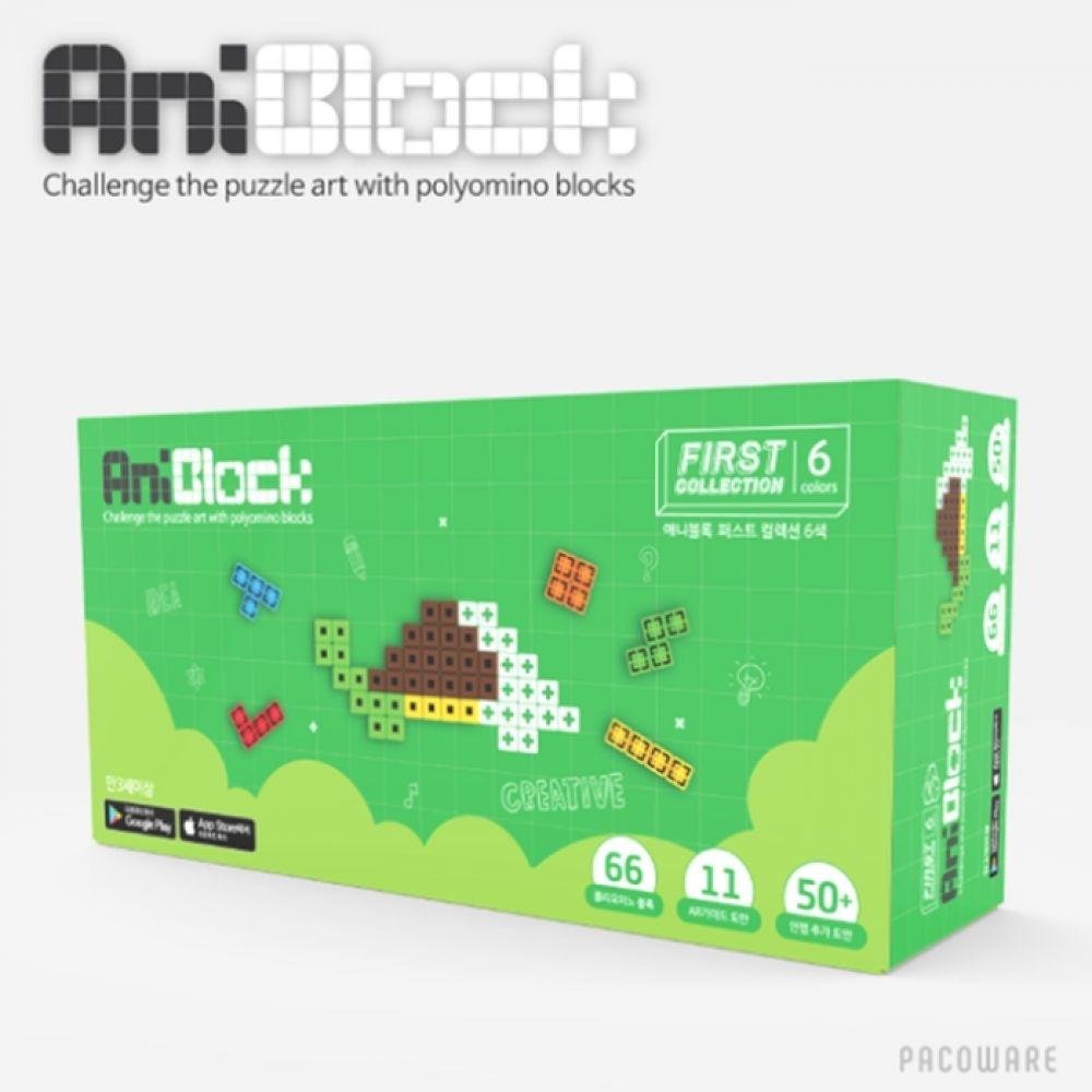 어린이선물 블럭장난감 증강현실 퍼즐놀이 6색 블록 블럭 장난감 퍼즐 놀이 교구 AR 증강 크리스마스 선물
