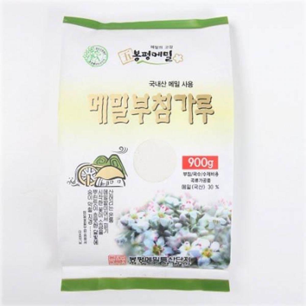 (식자재 박스판매)봉평 메밀 부침가루 900g x 10개 메일 국수 가루 묵 건강