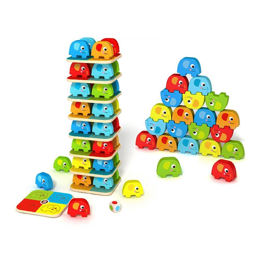 장난감 유아 학습 아동 놀이 코끼리 쌓기 퍼즐 아이 퍼즐 블록 블럭 장난감 유아블럭