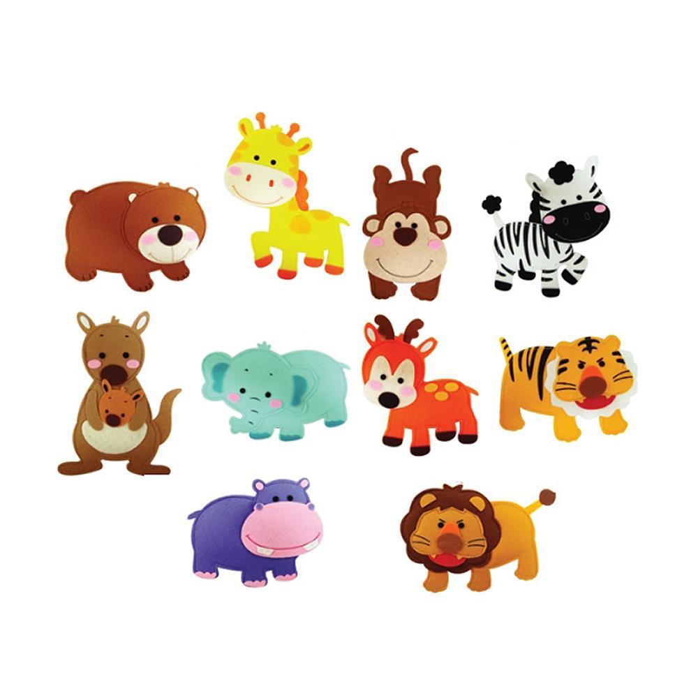 10종 어린이 유아 찍찍이 교육 교구 모형 야생사파리 2살장난감 3살장난감 4살장난감 아이놀이 어린이선물