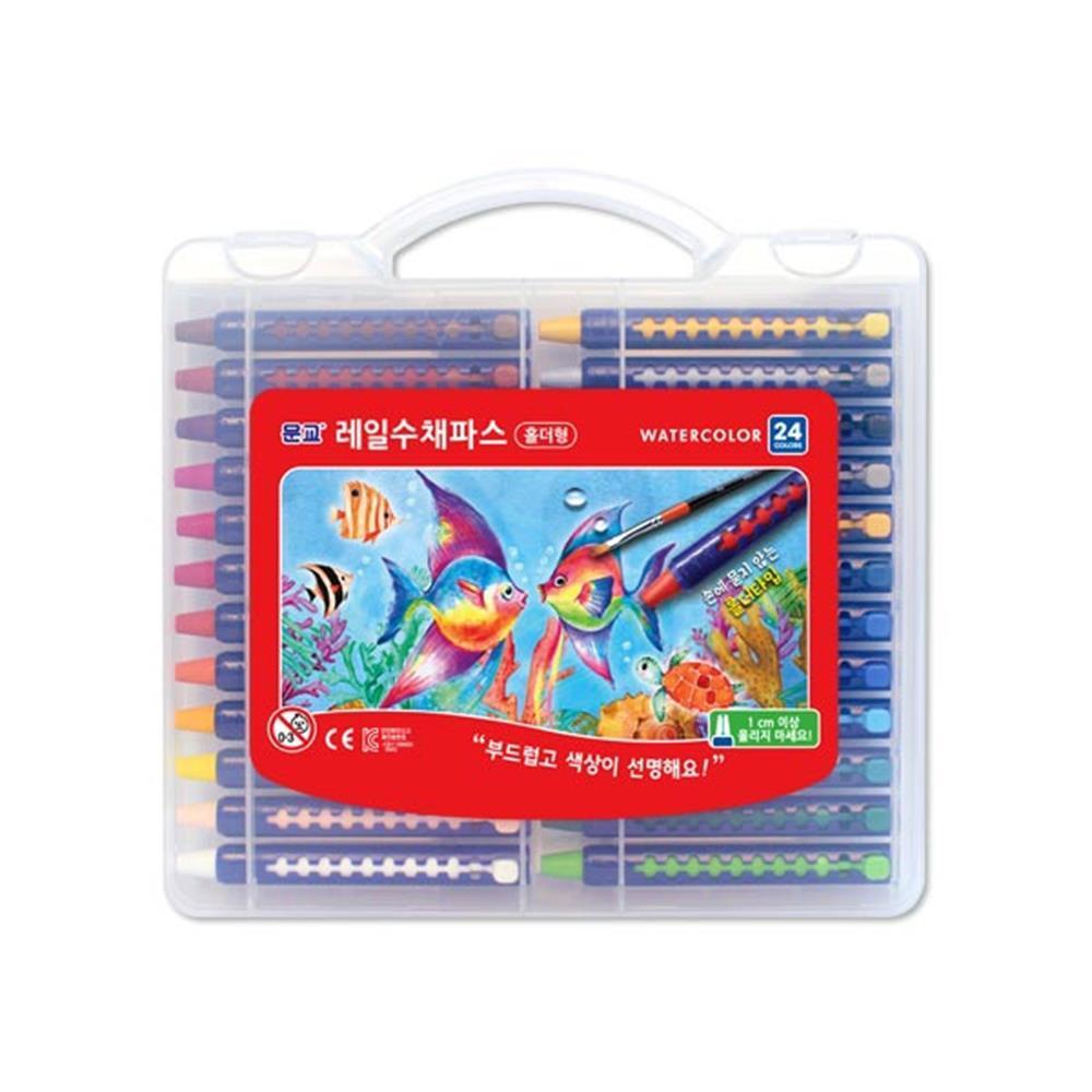 24색 수채크레파스 미술용품 크레용 문구용품 학용품 문구용품 미술용품 크레용 학용품 색칠공부