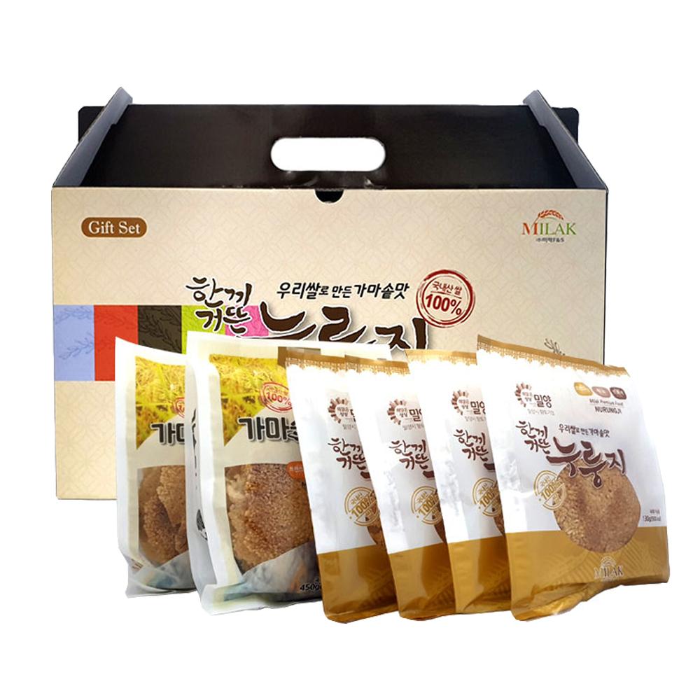 우리쌀로 만든 한끼거뜬 누룽지 선물세트/ 박스케이스 한끼누룽지 누룽지선물세트 가마솥맛누룽지 국내산쌀누룽지 가마솥누룽지