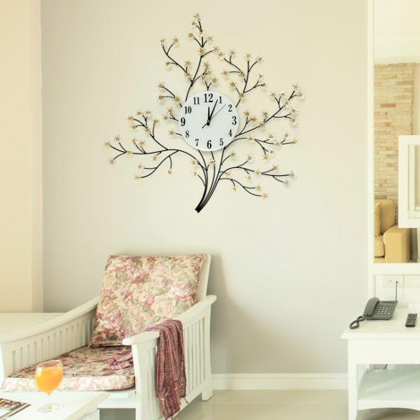 JHC컴퍼니 벚꽃 크리스탈 벽시계(70cm) 벽시계 탁상시계 시계 클래식시계 엔틱벽시계