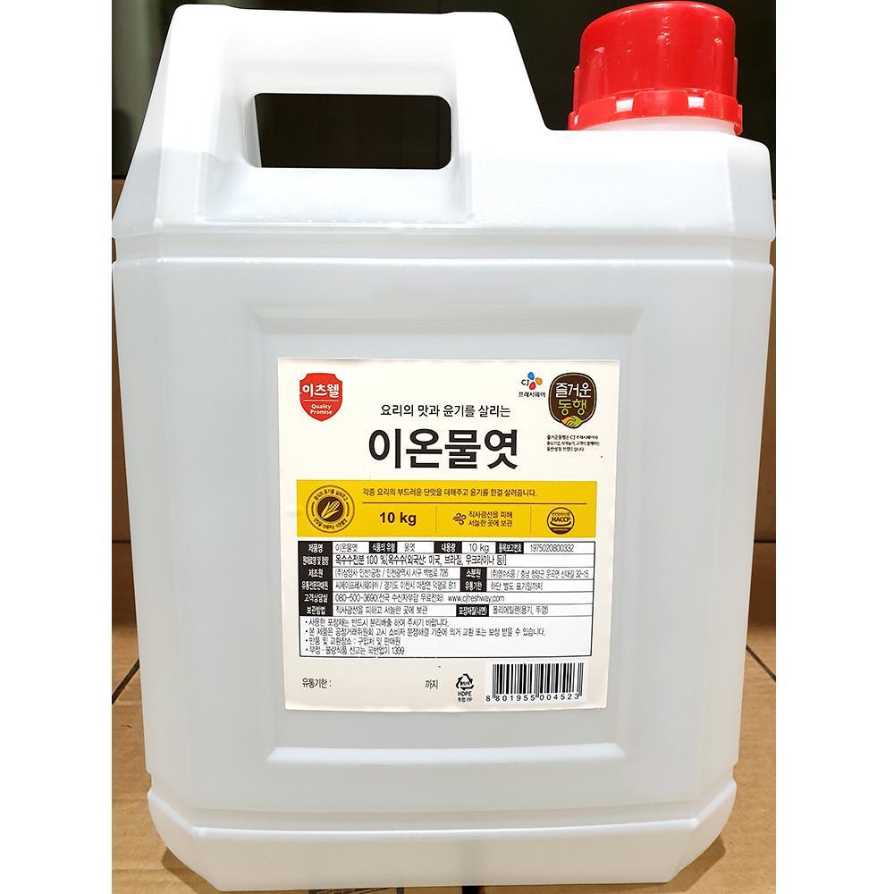 식자재 이온 물엿 이츠웰 10kg x2개 조청 단맛 윤기 이츠웰 물엿 조청 이온물엿 단맛