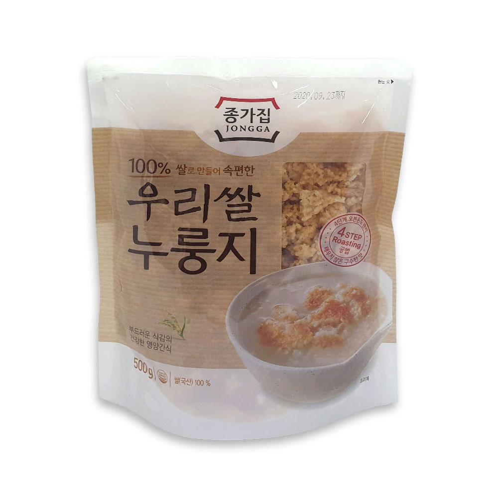 종가집 우리쌀 누룽지 500g 간식 아침식사 미음 숭늉 누룽지 미음 아침대용 숭늉 누룽지과자