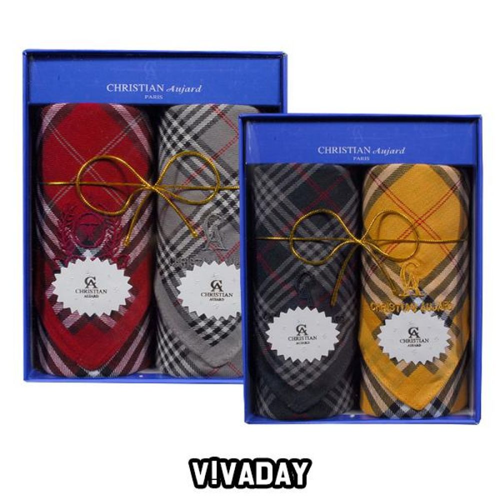 VIVADAY-SC57 기념일선물 남녀 2매 손수건 손수건 나염손수건 여성손수건 신사손수건 남성손수건 순면손수건 가제손수건 고급손수건
