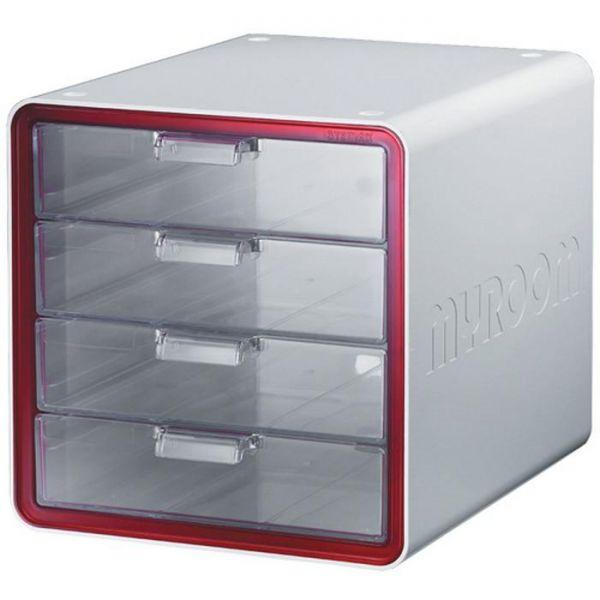 마이룸서류함 4단 270001 사무용품 다용도함 사무실 사물함 정리함 다용도 4단