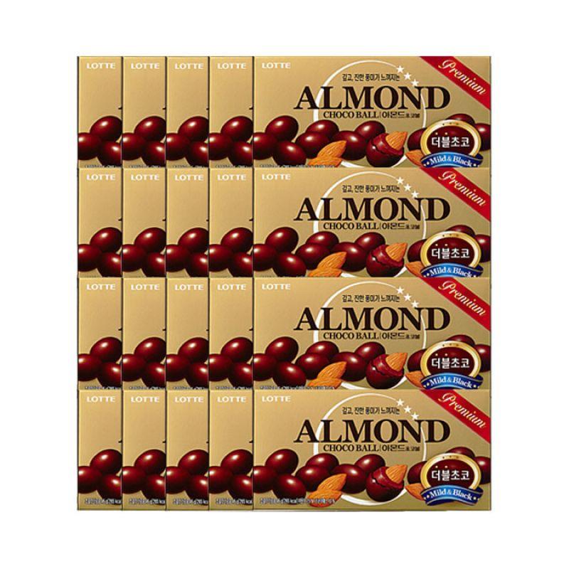 롯데제과 아몬드 초코볼(46g) 20개 아몬드 초코볼 초콜릿 롯데 아몬드초코볼