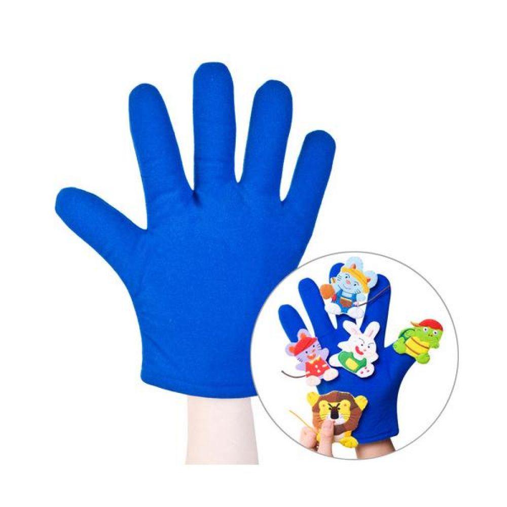 청색 손장갑 완구 문구 장난감 어린이 캐릭터 학습 교구 교보재 인형 선물