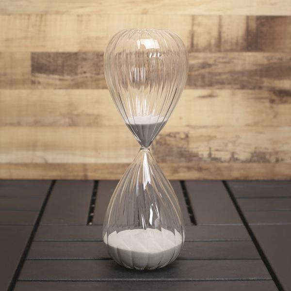 JHC컴퍼니 글라스타임 유리 모래시계(60분) (그레이) 벽시계 탁상시계 모래시계 클래식시계 엔틱벽시계