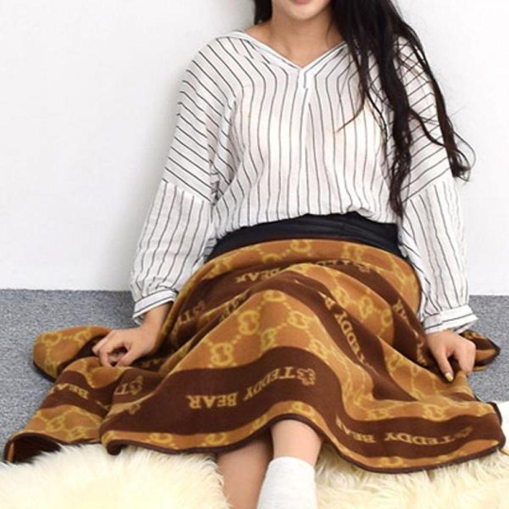 테디베어 담요 패턴담요(일반) 박스포장 무릅담요 따뜻하고 부드러움 선물박스 포장 생활 용품 겨울 난방 보온