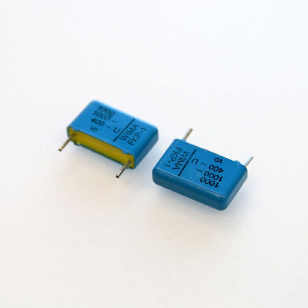 독일 위마 콘덴서 캐패시터 1000V 1000pF FKP1 2개씩 5묶음 콘덴서 오디오 캐패시티 audio 위마 WIMA 독일