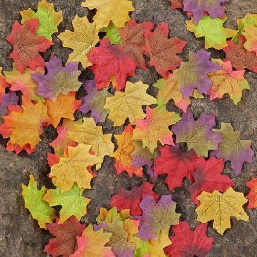 인공낙엽 50pcs 웨딩 장식 선물 포장 하트 diy 파티 가을 소품 인공 인공낙엽 단풍 은행잎 은행 축제 행사