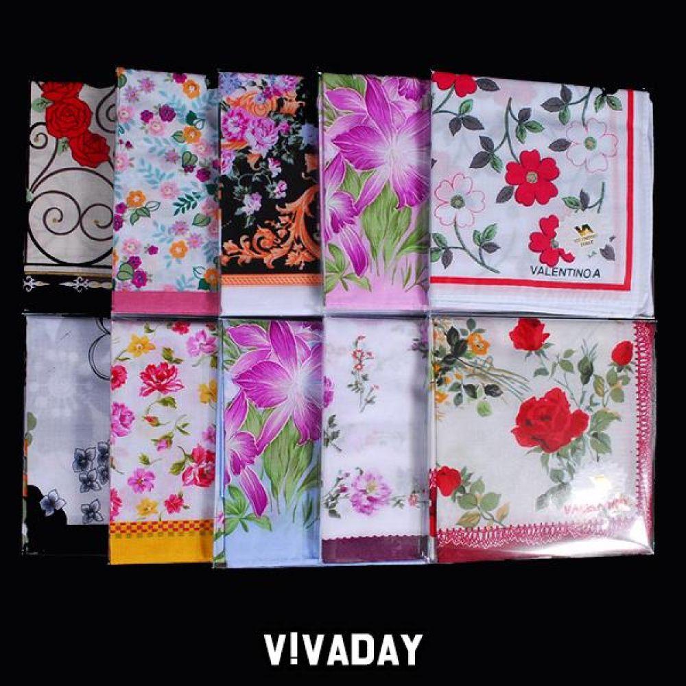 VIVADAY-SC47 패션나염 남녀손수건 손수건 나염손수건 여성손수건 신사손수건 남성손수건 순면손수건 가제손수건 고급손수건