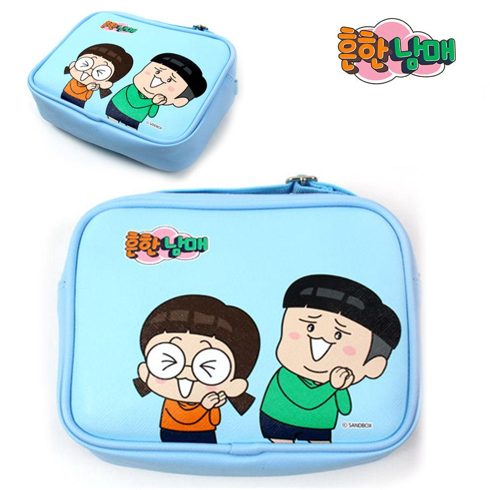 코코브레인 흔한남매 사각 크로스 (플리즈 블루) 크로스백 핸드폰백 아동가방 크로스 가방