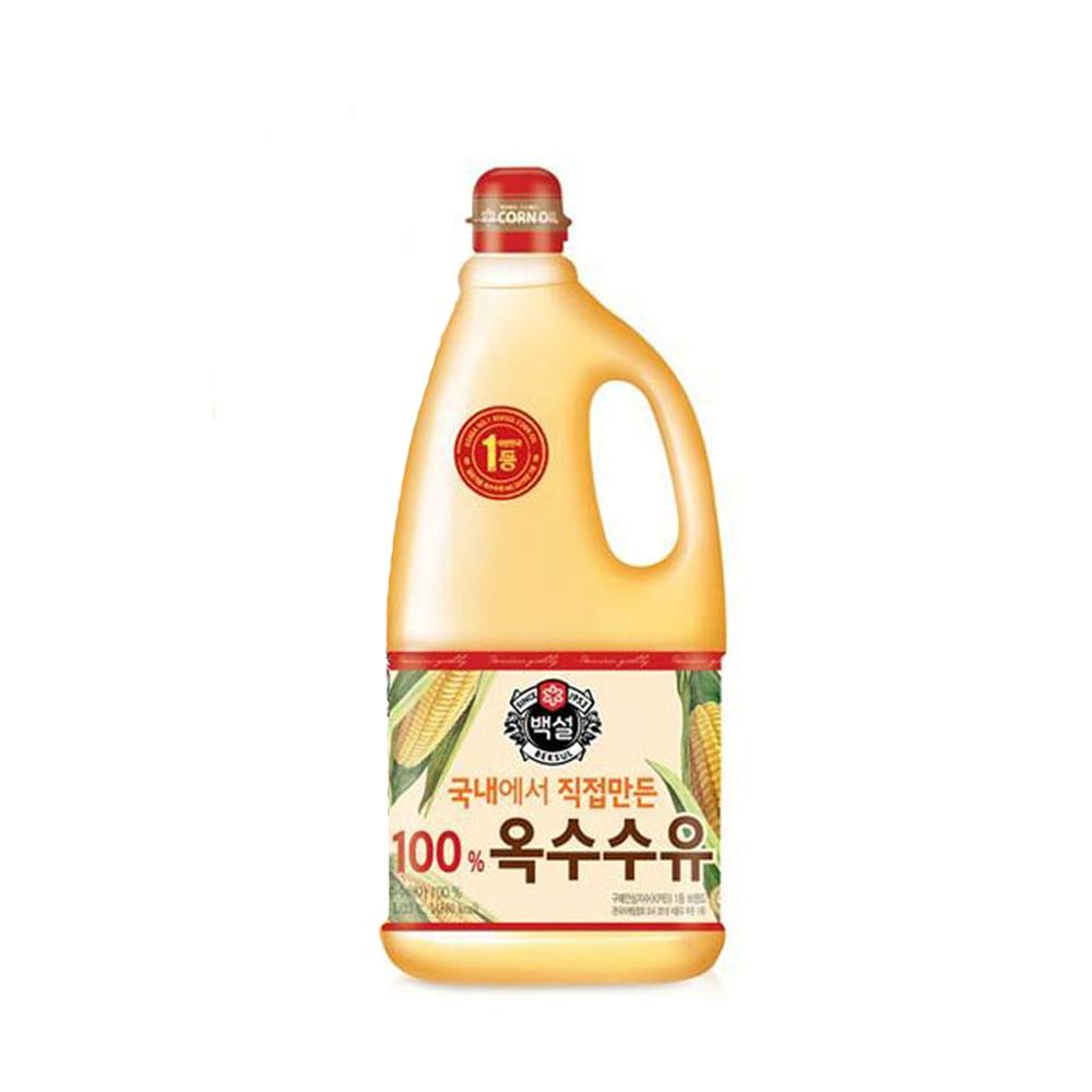백설 국내에서 직접만든 옥수수유 1.8L/ 대용량식용유 식용유 튀김식용유 부침개식용유 튀김전용오일 옥수수유