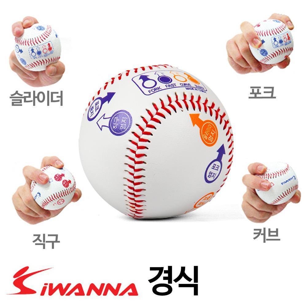 i워너 투수 변화구 그립표시 경식 야구공 커브 베이스볼 슬라이더 포크볼 경식야구공