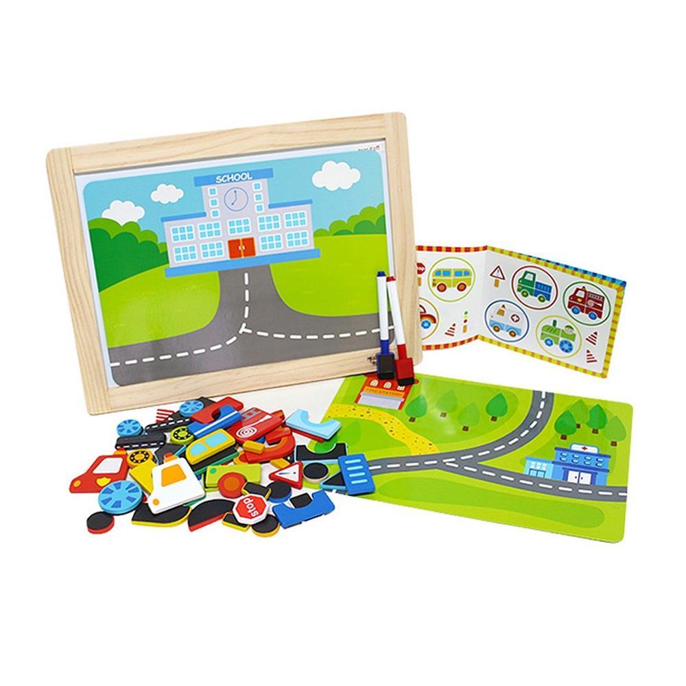 장난감 유아 학습 아동 놀이 교통 자석 퍼즐 아이 퍼즐 블록 블럭 장난감 유아블럭