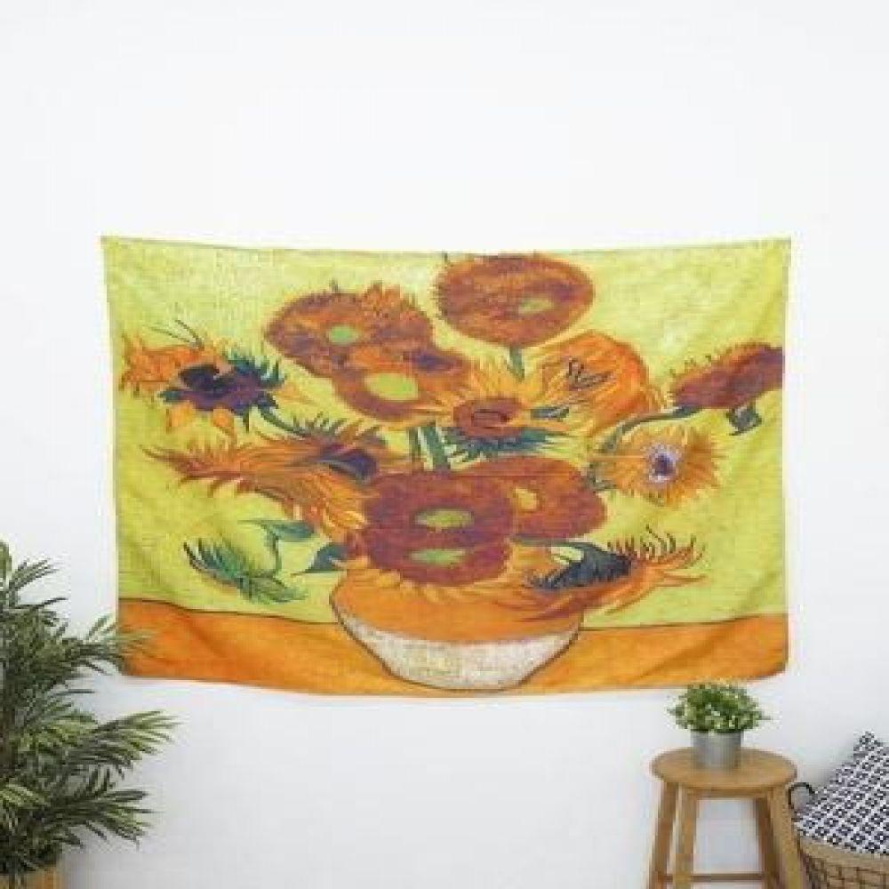 태피스트리 (해바라기) 벽장식소품 천포스터 벽걸이소품 가리개 인테리어소품