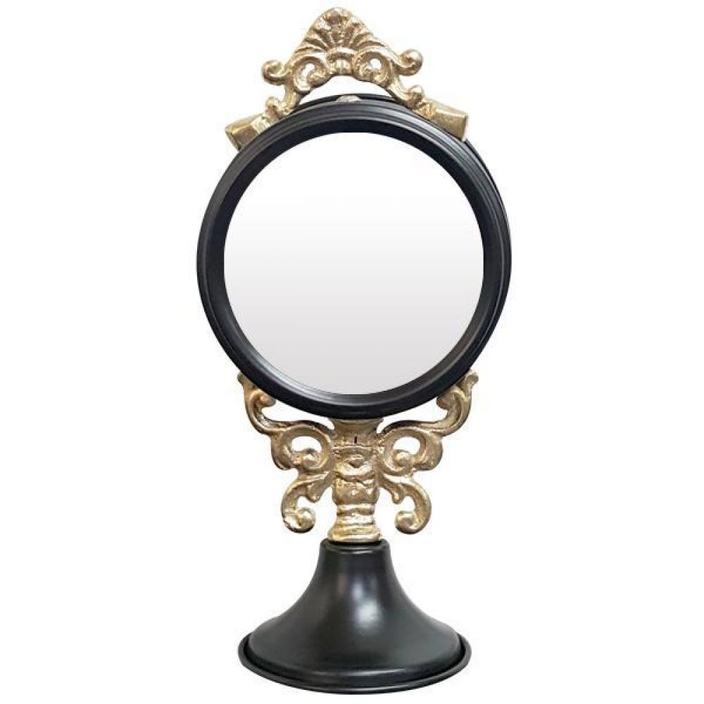 IG7365 장식용 주석 탁상 거울 블랙 제조한국 탁상거울 인테리어탁상거울 메탈탁상거울 모던탁상거울 주석탁상거울