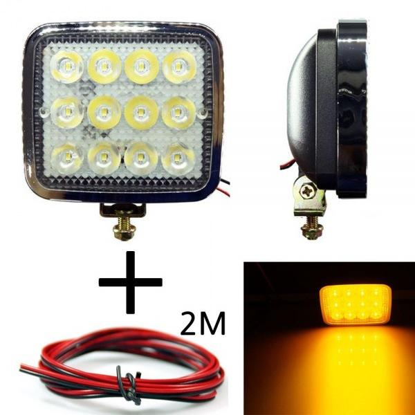 LED 안개등 201 옐로우 다용도 램프 작업등 12V-24V겸용 선2m포함 led작업등 led라이트 낚시집어등 차량용써치라이트 해루질써치