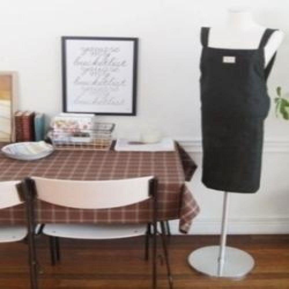 멜란지 앞치마 (블랙/그레이) 주방용품 주방소품 주방패브릭 앞치마소품 예쁜앞치마