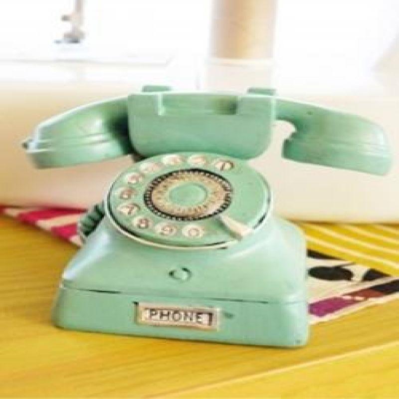 앤틱 다이얼 전화기