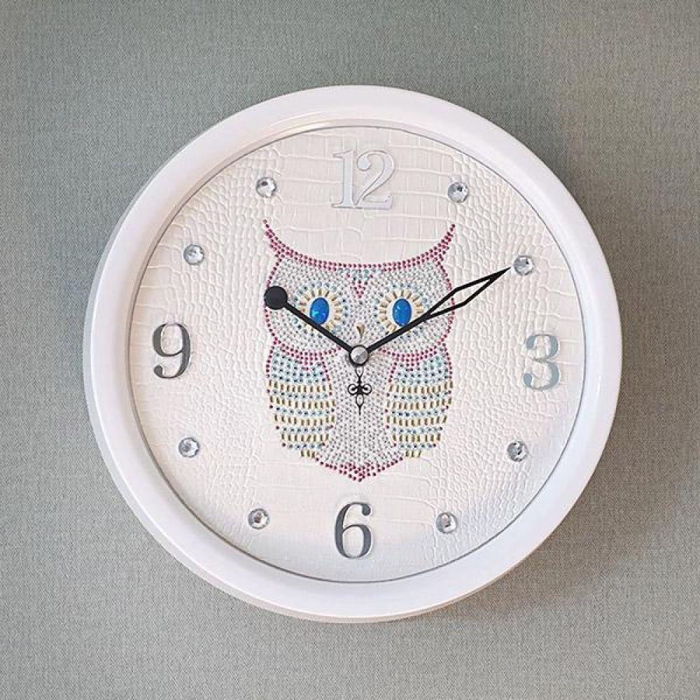 스위트 부엉이 크롬 무소음 벽시계 (화이트) 벽시계 벽걸이시계 인테리어벽시계 예쁜벽시계 인테리어소품