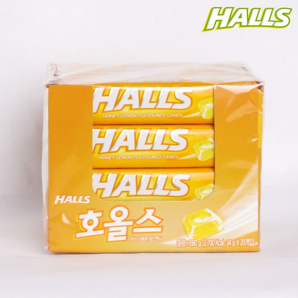 호올스 레몬향 목캔디 사탕 34g x 20개입 목캔디 사탕 호올스 캔디 박하사탕