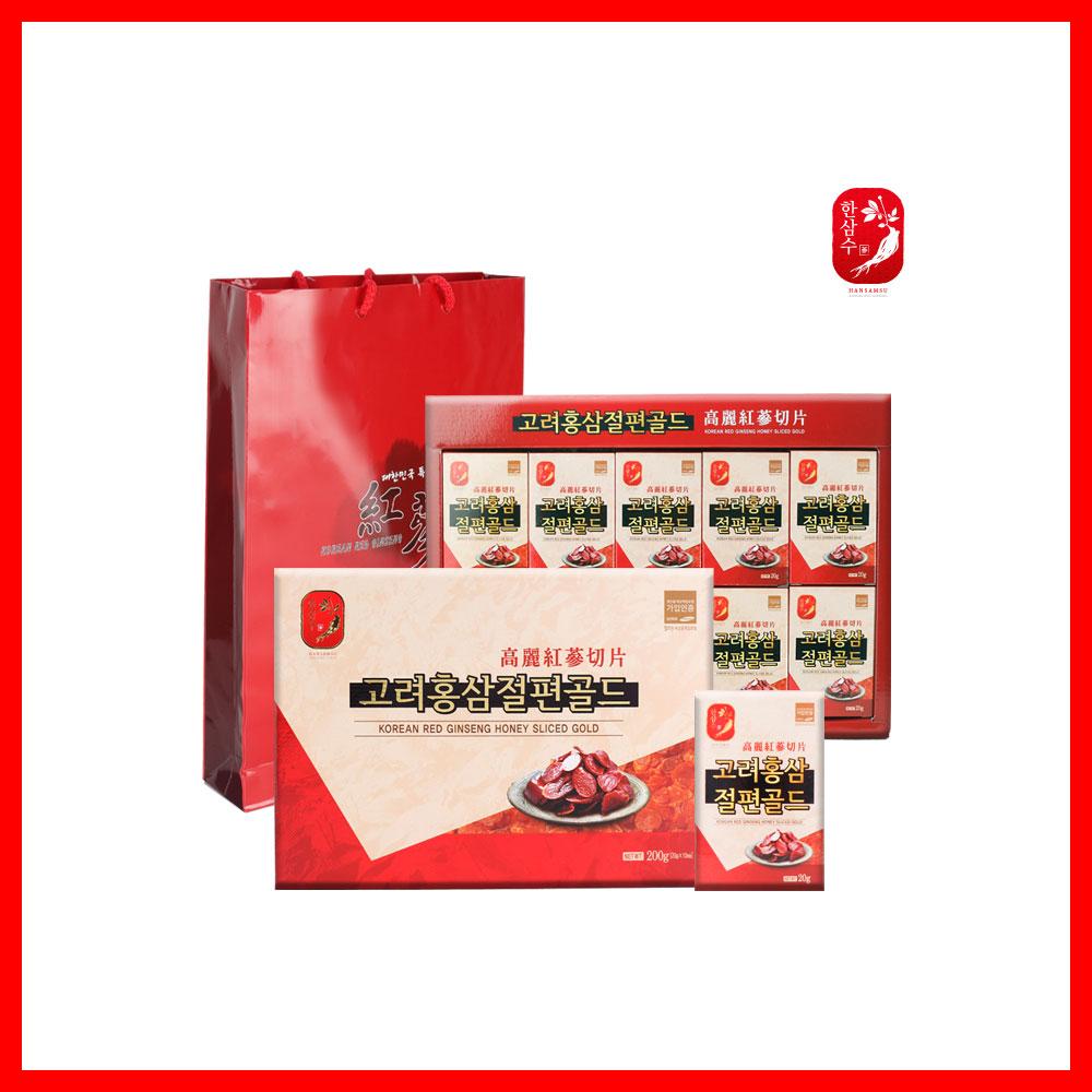 고려 홍삼 절편(20gx10개) 저온숙성 먹기좋은 사이즈 휴대성 1회 이삼편 홍삼 인삼 진액 건강 식품