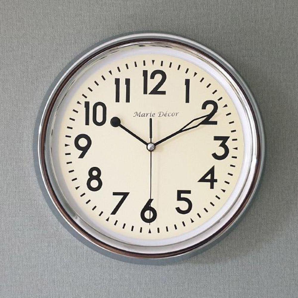 뉴트로 무소음 벽시계 (크롬) 벽시계 벽걸이시계 인테리어벽시계 예쁜벽시계 인테리어소품