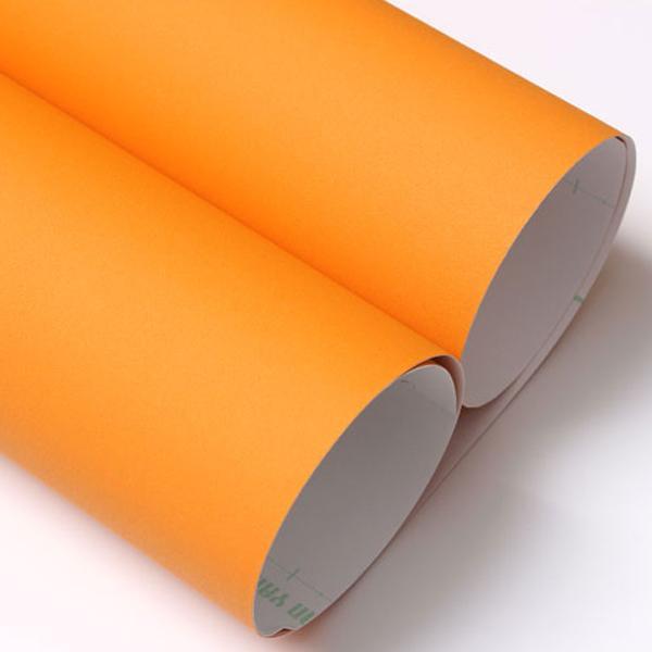 인테리어필름 단색무광 마이크로샌드 오렌지 단색시트지 싱크대시트지 방문시트지 현관문시트지 가구시트지 무광시트지 방수시트지