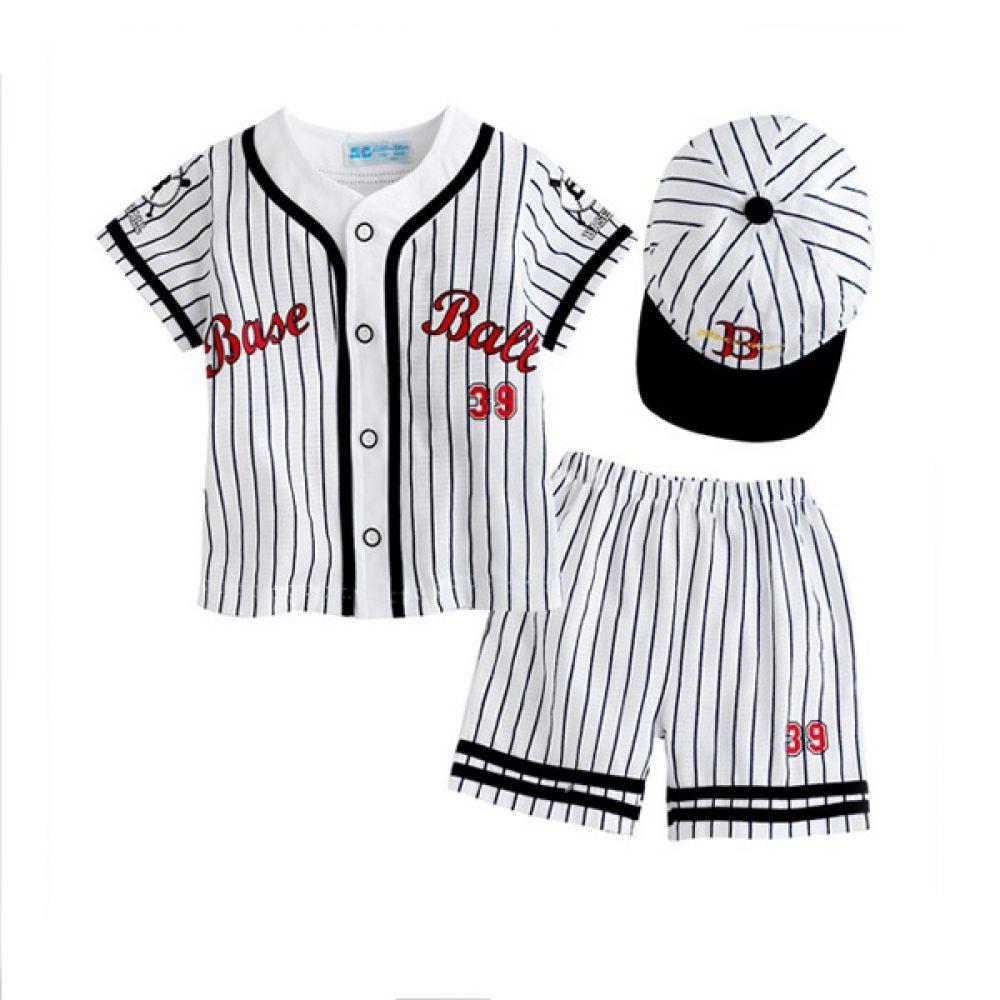 한국 생산 야구 상하3종세트 블랙 (3-36개월) 203241 아기옷 유아옷 아기외출복 유아상하복 아기상하복 상하복 세트 바지 상의 유아복 티셔츠 엠케이