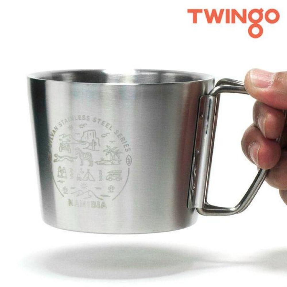 트윙고 보냉 나미비아 더블컵 360ml 보온텀블러 보냉텀블러 보온병 보온컵 텀블러