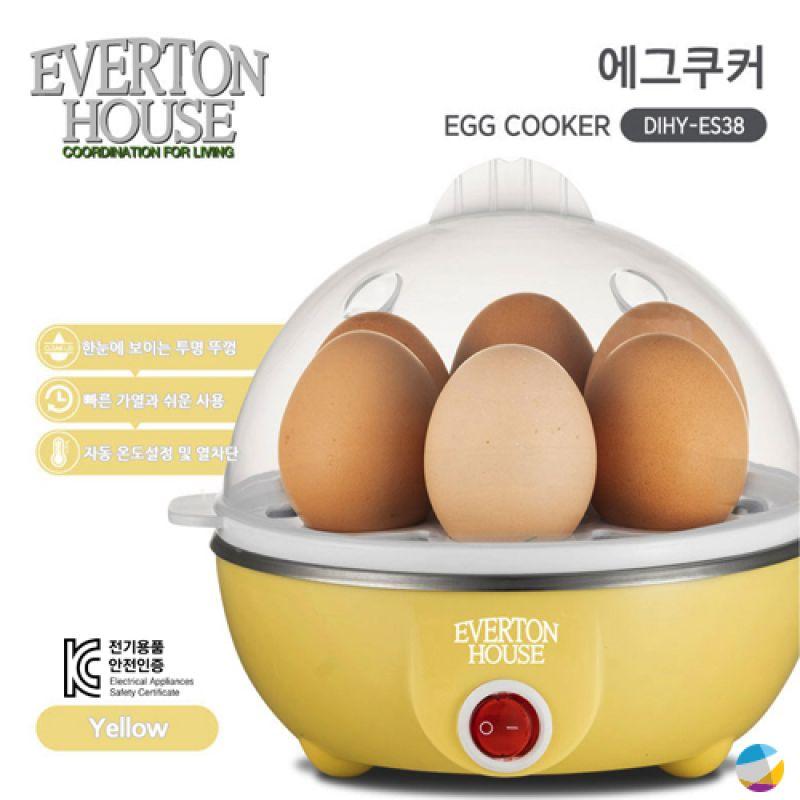 KC인증 계란찜기 혼밥 에버튼하우스 옐로우에그쿠커 계란찜기 달걀찜기 계란말이 구운계란 삶은계란