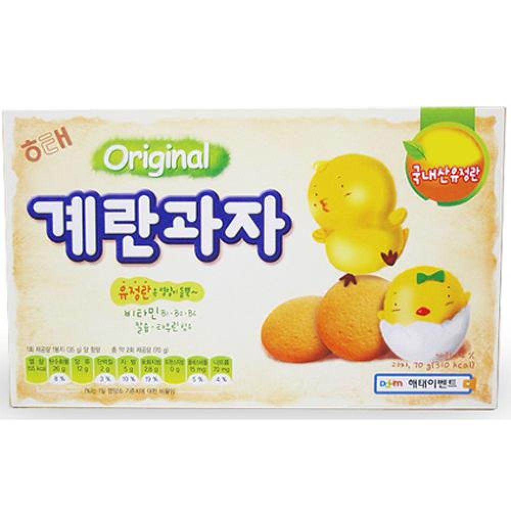 해태 제과 계란과자 1박스(70gx20팩) 파티용 간식용 간식 과자 주전부리 행사 유치원 어린이집 도매 대량판매
