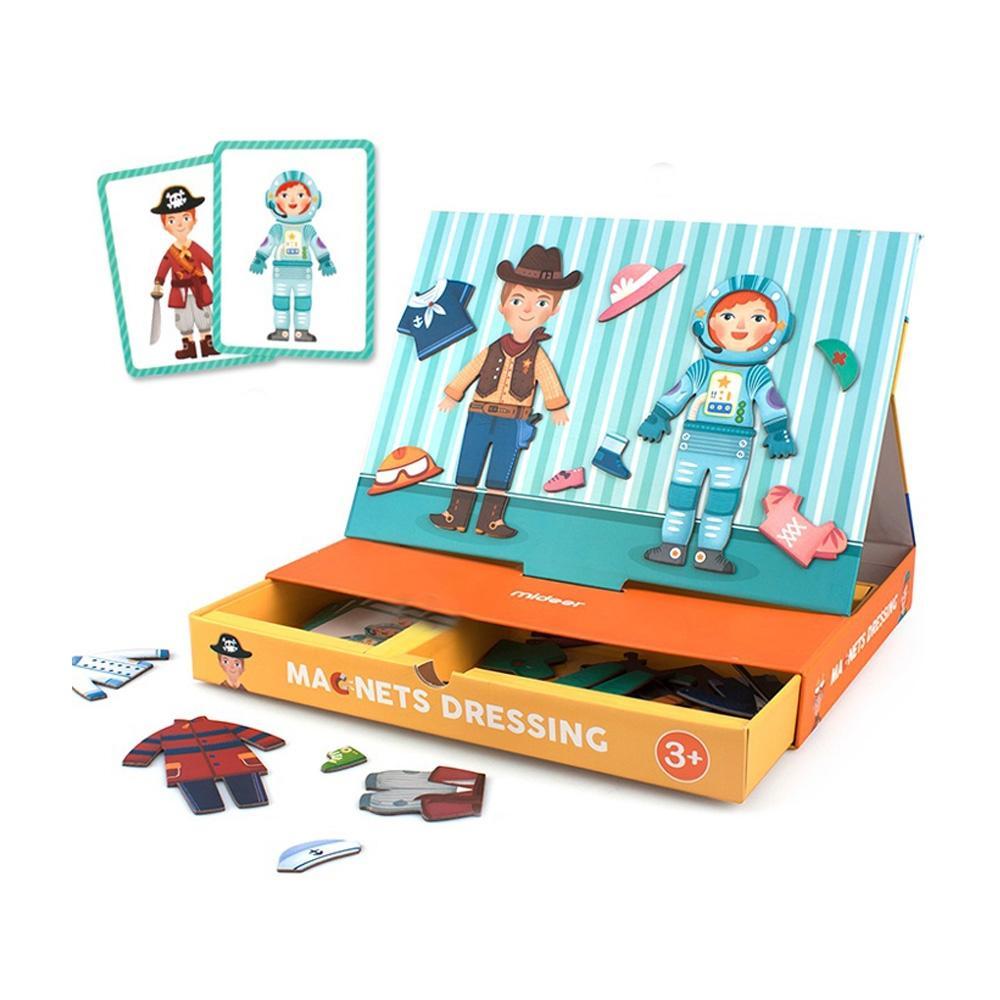 선물 3살 4살 유아 옷갈아 입히기 자석 보드 어린이 자석보드 퍼즐 블록 블럭 장난감