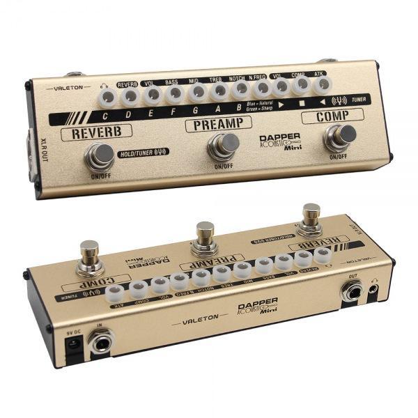 통기타용 4가지 기타이펙터 Acoustic Mini 이펙터 기타이펙터 이팩터 풋페달 일렉기타이펙터 멀티이펙터 꾹꾹이 기타페달 와우페달 볼륨페달