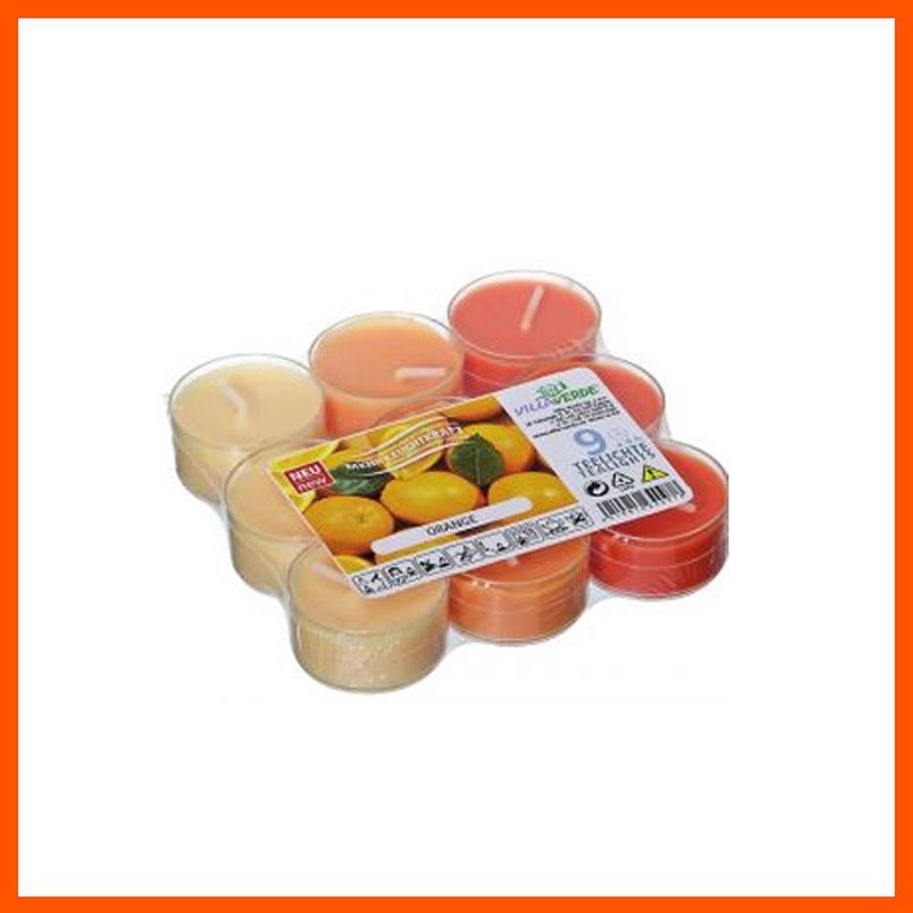 아로마 캔들 오렌지 투명용기 (9개입) 캔들 디퓨저 아로마캔들 향초 홈데코 향수캔들 집들이선물 파티캔들 아로마향초 독일캔들