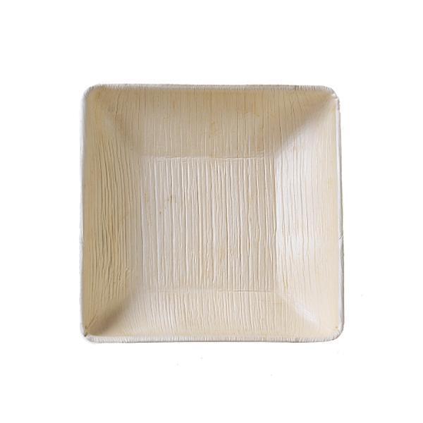 본플라 천연야자나무 17cm 일회용 사각볼 (6개 세트) 주방소품 일회용접시 피크닉 포장용기 집들이