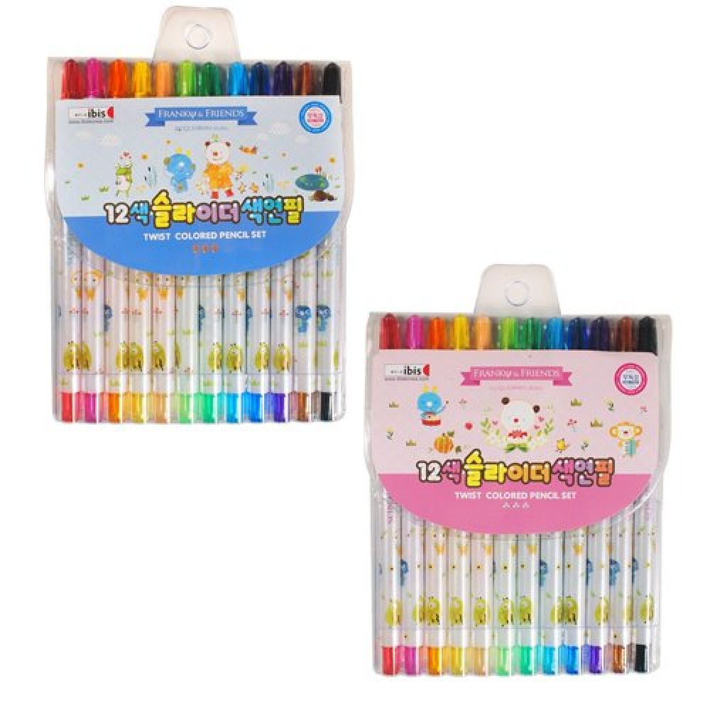 아이비스 4500 12색 슬라이더 색연필 (FR) 1개