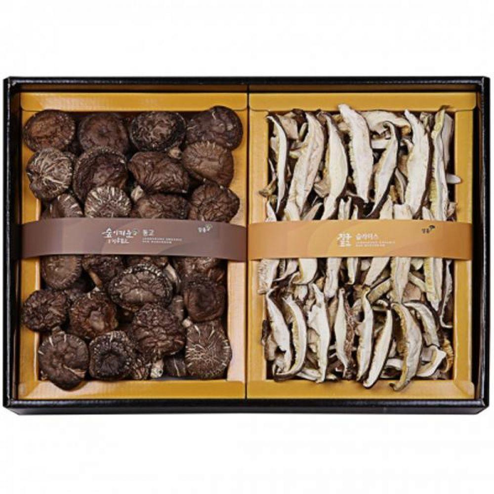 동고혼합특선 (동고190g 슬라이스140g) 쇼핑백포장 식품 농산물 채소 표고버섯 선물세트