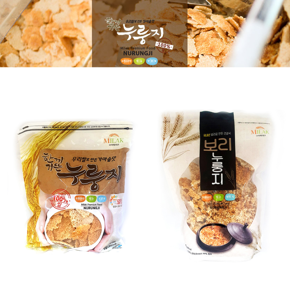 미락 누룽지 1kg/ 쌀누룽지 보리누룽지/간편식/소포장 가마솥누룽지 가마솥맛누룽지 우리쌀누룽지 미락누룽지 국산누룽지