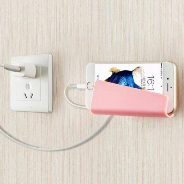 스마트폰 충전수납벽 벽거치대 충전홀더 보관선반함 충전거치대