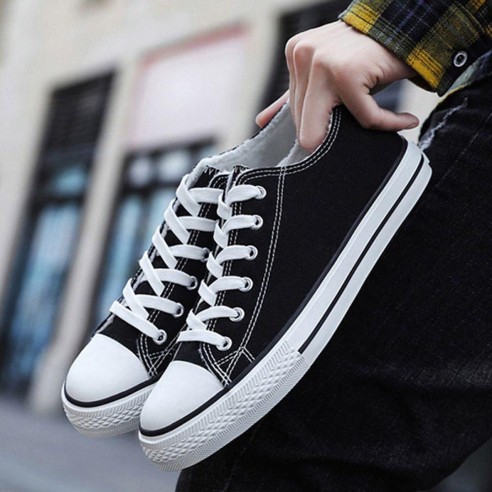 남여공용 캔버스 겨울 스니커즈 털안감 ZG416T 남여공용 여자겨울신발 남자겨울신발 방한신발 털운동화
