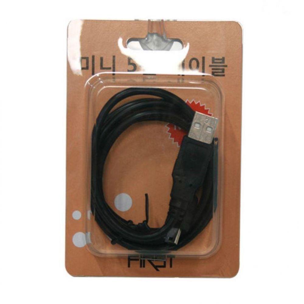 미니 5핀 케이블 usb 충전 핸드폰 휴대폰 연결 pc 컴퓨터