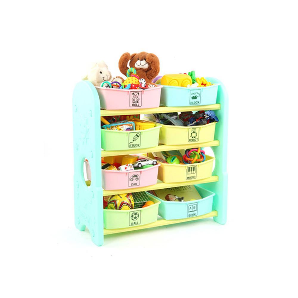 습관 쿠쿠토이즈 펀4단 정리함 수납함 민트 정리 수납함 정리습관 어린이집 유아원 장난감